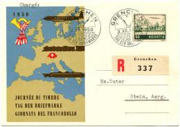 700 - TdB Karte Mit Seltener ABART - Flugpost Doppelprägung - Abarten