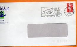 44 NANTES  LES TIMBRES POSTE   18 / 2 / 1994 Lettre Entière 110x220 N° P 901 - Postmark Collection (Covers)