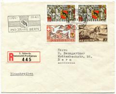 """703 - 750 Jahre Bern """"orangegelb"""" Im Paar Auf Brief - Seltene Farb-ABART - Abarten"""