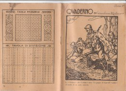 Q401 QUADERNO SCUOLA ERA FASCISTA - COMPONIMENTI 1928 - MILITARI ARDITI - ILLUSTRATORE - Vecchi Documenti