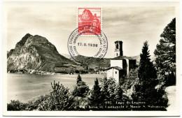 704 - San Salvatore 1938 Auf Maximumkarte - Cartes-Maximum (CM)