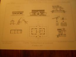 ARCHITECTURE PLAN COCHINCHINE ASIE  POSTE POSTES TELEGRAPHES TELEGRAPHE - Documenti Storici