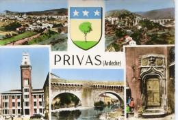 CPSM 07 PRIVAS MULTI VUES Grand Format 15 X 10,5 Cm - Privas