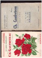 Catalogue Gaufreteau (LES ROSES BORDELAISES ) + Le Supplément +lettre à Entête + 2 Autres Docs 1934 (CAT273) - Agriculture