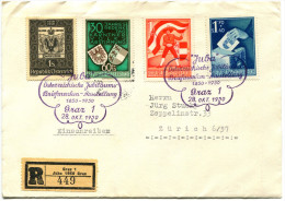 711 - Kärntner Serie Auf JUBA-Ausstellungsbrief - 1945-.... 2ème République