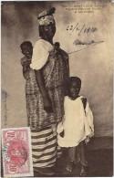 Sénégal : St Louis, Diguène (Femme) Ouolof Et Ses Enfants - Senegal