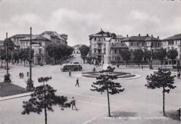 Italy 1949 Used Postcard Pavia Monumento La Minerva Postmark Profumo Orchidea Bianca Augurio Di Felicita - 6. 1946-.. Repubblica