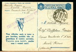 ITALIA - POSTA MILITARE -  N. 67 Del 1.6.43 - XXI   -   Non Riferite Mai - 1900-44 Vittorio Emanuele III