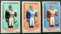 TOUSSAINT-LOUVERTURE 1963 - NEUFS ** - YT 199/01 - MI 226/28 - Benin - Dahomey (1960-...)