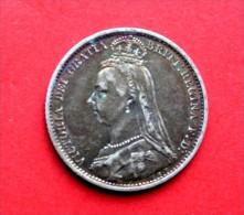 Six Pence 1890 - 1816-1901 : Frappes XIX° S.