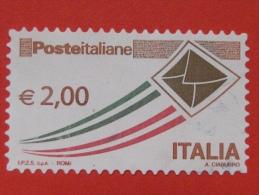 ITALIA USATI 2009 - POSTA ITALIANA EURO 2,00 - SASSONE 3105 - RIF. G 1961 - 2001-10: Used