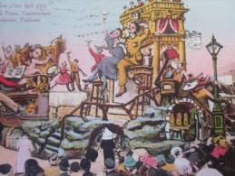 1923 CPA De NICE Colorisée => ALPES MARITIMES 06 =>XLV  LE CARNAVAL LE GAI CHAUFFEUR - Carnival
