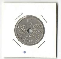 5 Kroner 2007  - Norway Coin - Norway
