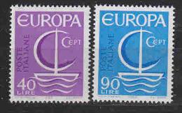Europa Cept 1966 Italy 2v ** Mnh (LT614) - Europa-CEPT