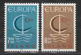 Europa Cept 1966 Iceland 2v ** Mnh (19408) - 1966