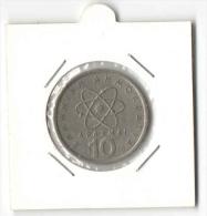 10 Drachmas 1978 ATOM Democritus (Greece, Grece, Griechenland, Griekenland, Grecia, Drachmai Coin) - Greece