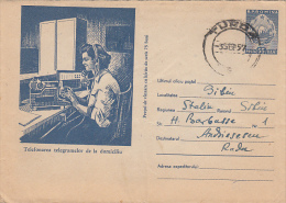 PHONED TELEGRAMMES, POSTAL SERVICES, COVER STATIONERY, ENTIER POSTAL, 1957, ROMANIA - Télégraphes