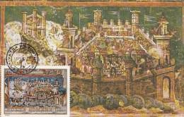 VATRA MOLDOVITEI MONASTERY, WALL PAINTINGS, FRESCO, CM, MAXICARD, CARTES MAXIMUM, 1987, ROMANIA - Maximumkaarten
