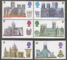 Great Britain. 1969 British Architecture. Cathedrals. MH Complete Set. SG 796-801 - 1952-.... (Elizabeth II)