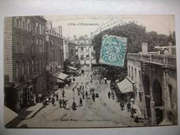 Carte Postale Saint Malo La Place Chateaubriand (CPA Oblitérée 1905) - Saint Malo