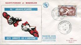 St Pierre Et Miquelon            FDC  Premier Jour 10.12.1958 - FDC