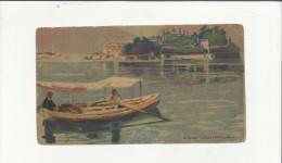 98214 ANTICA STAMPA STAMPETTA OFFICINE CHIATTONE MILANO RETRO SENZA SCRITTE CM 8,5 X 16 - Vecchi Documenti