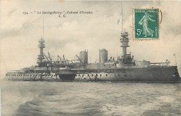 BATEAUX DE GUERRE  Bateau  Le  Jauréguiberry  Cuirassé D'escadre  2 Scans - Guerra