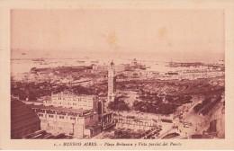 1 POSTAL DE BUENOS AIRES DE LA PLAZA BRITANICA Y VISTA PARCIAL DEL PUERTO DEL AÑO 1929 (ARGENTINA) - Argentinië