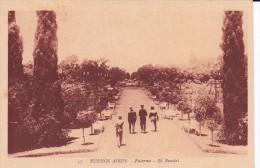 37 POSTAL DE BUENOS AIRES DE PALERMO - EL ROSEDAL DEL AÑO 1929 (ARGENTINA) - Argentinië