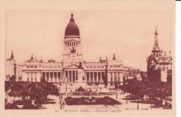 38 POSTAL DE BUENOS AIRES DE LA PLAZA DEL CONGRESO DEL AÑO 1929 (ARGENTINA) - Argentinië