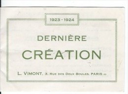 Carte De Visite Publicité Sous Vetements1923 1924 - Old Paper