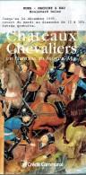 Dépliant Sur L'exposition Châteaux Et Chevaliers En Hainaut Au Moyen Âge (Mons, 1995) - Dépliants Touristiques