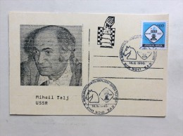 AK   SCHACH   CHESS   MIHAIL TALJ  USSR  1990. - Chess