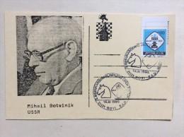 AK   SCHACH   CHESS   MIHAIL  BOTVINIK     1990 - Chess