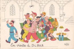 Aw - Cpsm Grand Format Illustrée DUBOUT - En Visite à DINAN - Dinan