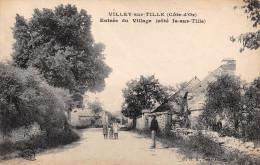 21 - CPA VILLEY SUR TILLE Entrée Du Village (coté Is Sur Tille) RARE - France