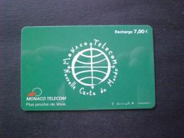 CARTE  TELEPHONE  MONACO MONTE CARLO EURO 7,50 RARE!! - Mónaco