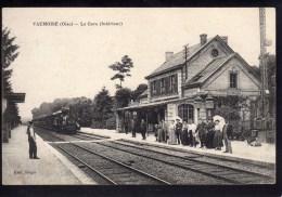 Vaumoise - La Gare (Intérieur) - Gares - Avec Trains
