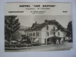 LE MENIL THILLOT HOTEL LES SAPINS MR VUILLEMIN - Le Thillot