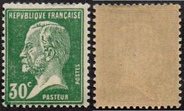 France Célébrité N°  174 ** Pasteur - Le 30 Cts Vert - Louis Pasteur