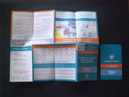 CARTE  TELEPHONE  FRANCIA  PLUS Brochure Pour Les Promotions, Les Blagues Et Les Poutres .. Rares Fois Ensemble - Frankrijk