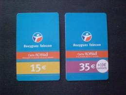 CARTE TELEPHONE  FRANCIA  2 CARTE 15 EURO E EURO 35 - Per Cellulari (ricariche)