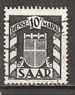 Saarland 1949 // Mi. 38 O - Servizio