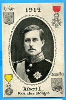 F528, Liège, Bruxelles, Roi Des Belges, 1914, Albert I, Circulée - Belgio