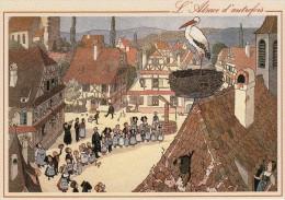 L'Alsace D'Autrefois Dessin De HANSI - Francia