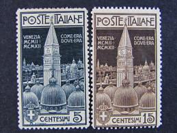 """(O)ITALIA Regno-1912- """"Campanile Di S. Marco"""" Cpl. 2 Val. MH* (descrizione) - 1900-44 Vittorio Emanuele III"""