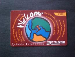 CARTE  TELEPHONE  ITALIA INTERNATIONAL  EURO 5,00 - Italië