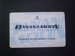 CARTE  TELEPHONE  MONACO BANANA MOON MONTE CARLO PRIVATE !! MUCH MUCH RARE  !! - Monaco