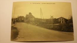 TUFFE 72 Entree Du Bourg Et La Gare Chemin De Fer Sarthe 72 Cpa Animee Postcard - Tuffe
