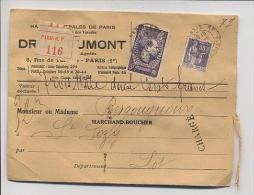 LETTRE Chargée Avec TP N°363 + N° 338 Cachet Départ Paris Avec Arrivée St Sozy Lot - France